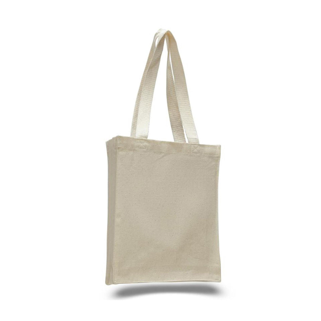 Cutest Canvas All Around Gusset Book Bag - Natural TFW125200 - NATURAL