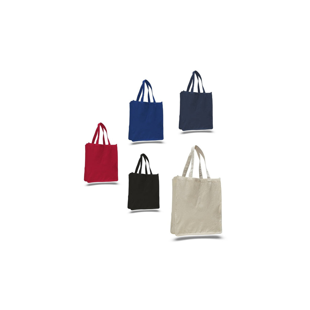 Toronto Style Canvas Large Grocery Bag with All Around Gusset and Self Fabric Handles - Colors TFW125400-C