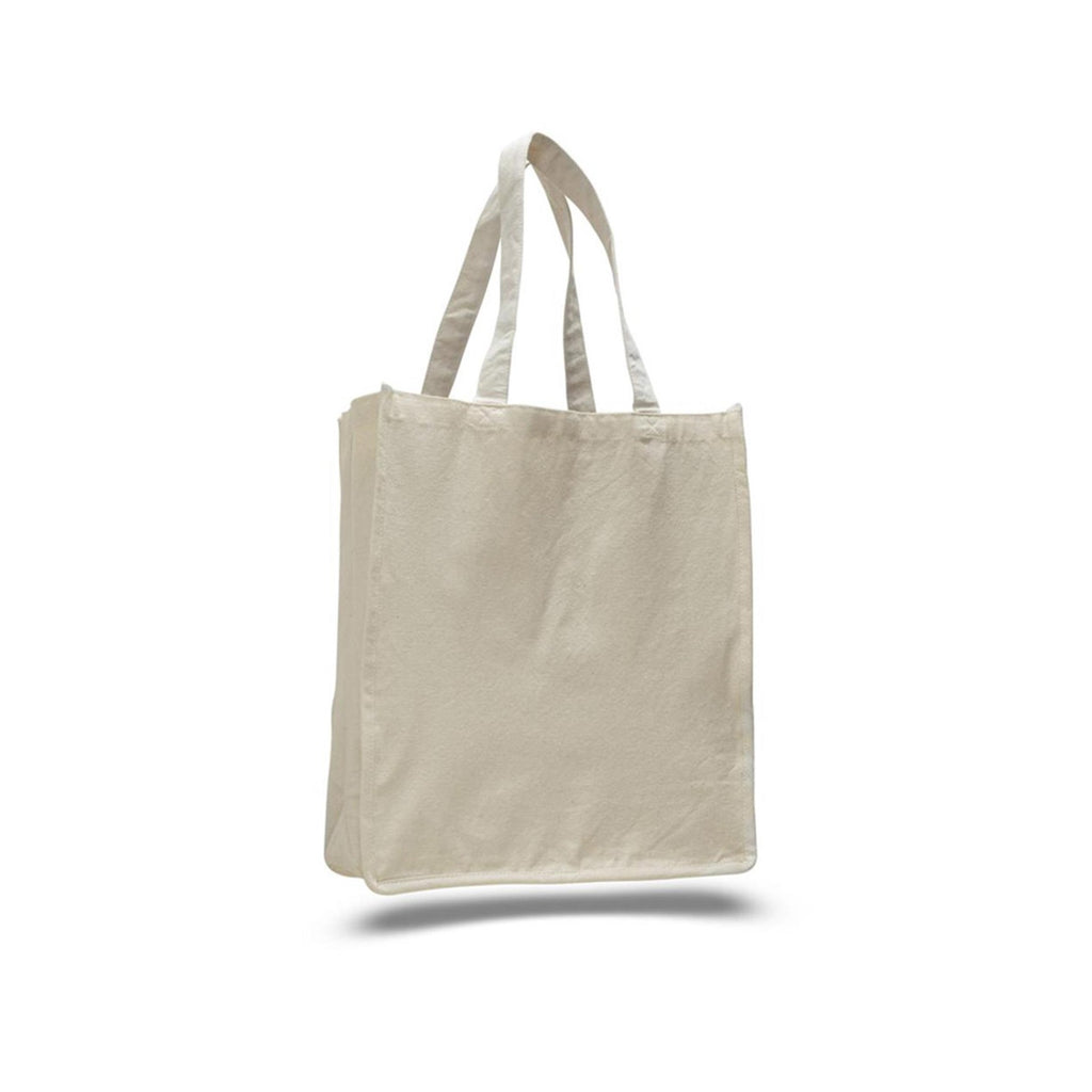Toronto Style Canvas Large Grocery Bag with All Around Gusset and Self Fabric Handles - Natural TFW125400 - NATURAL