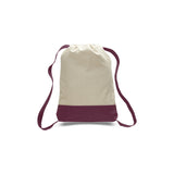 Tokyo Style Canvas Sturdy Backpack with Contrasting Straps and Trim - Natural TFW125700 - COLORS