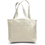 All Time Classic Canvas Nautical Boat Bag - Small - Natural TFW125800 - NATURAL
