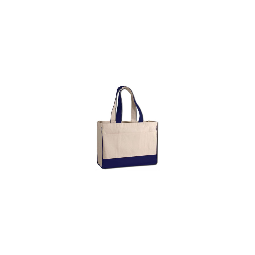 Boxy and Sturdy 2 Tone Canvas Classic Bag with Front Pocket and Self Fabric Handles - Colors TFW1400-C