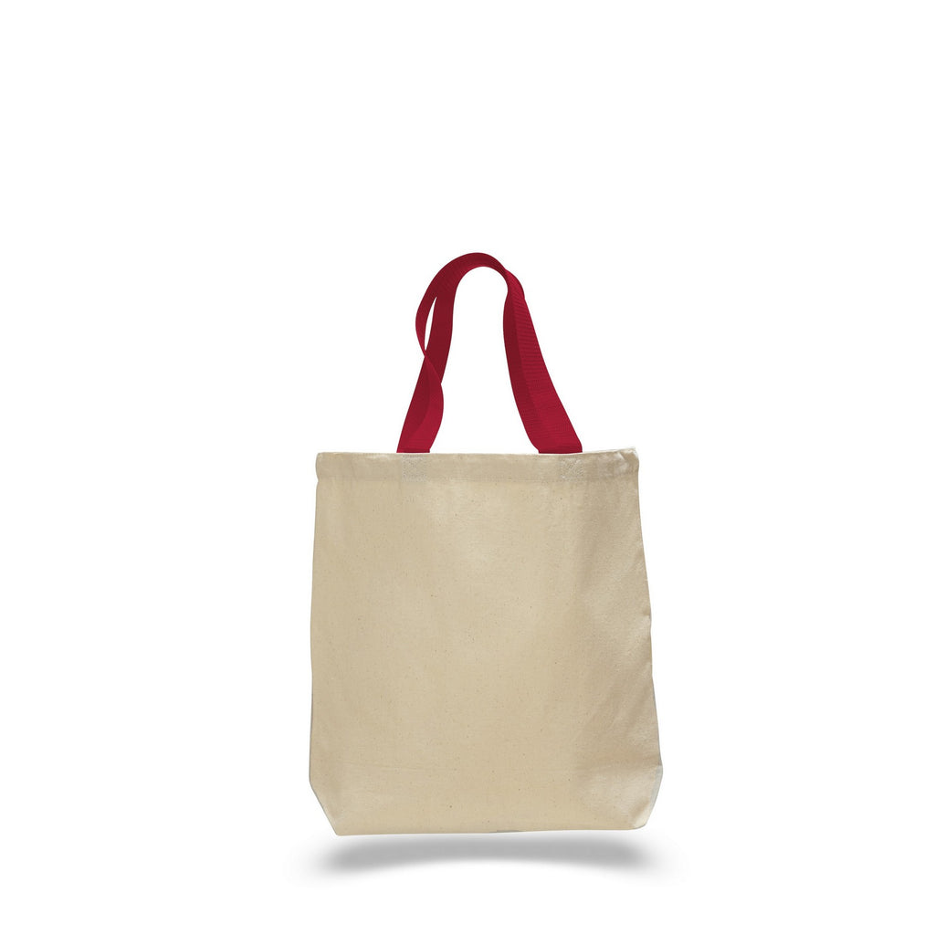 Hungarian Style Canvas Tote Bag with Contrasting Color Polyester Web Handles TFW4400