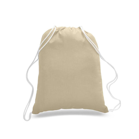 Cotton Drawstring Cinch Bag - Large - Colors TFW4500-L-NATURAL