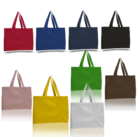 Promotional Canvas Boxy Tote Bag with Cotton Web Handles - Colors TFW750-C