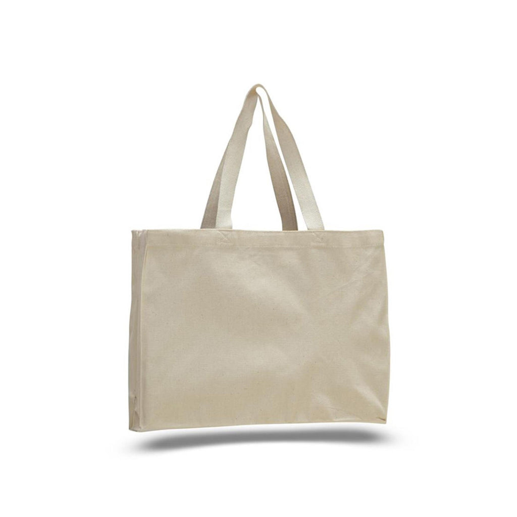 Promotional Canvas Boxy Tote Bag with Cotton Web Handles - Natural TFW750 - NATURAL