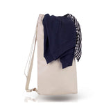 Heavy Canvas Drawstring Laundry Bag with Wide Shoulder Handle - Medium - Natural TFWLB-M-NATURAL