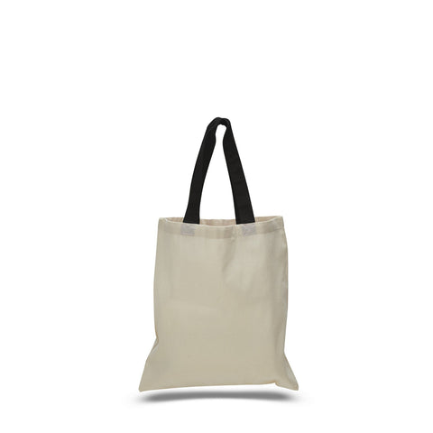 Cotton Economical Basic Tote Bag with Color Handles TFWTB6000