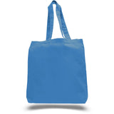 Cotton Economical Basic Tote Bag with Bottom Gusset - Colors TFWTBG - COLORS