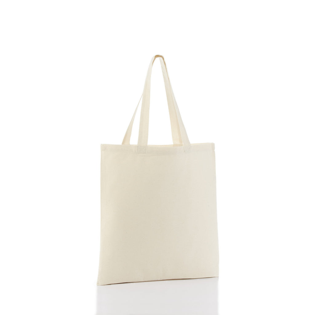 Cotton Economical Basic Tote Bag with Bottom Gusset - Natural TFWTBG-NATURAL