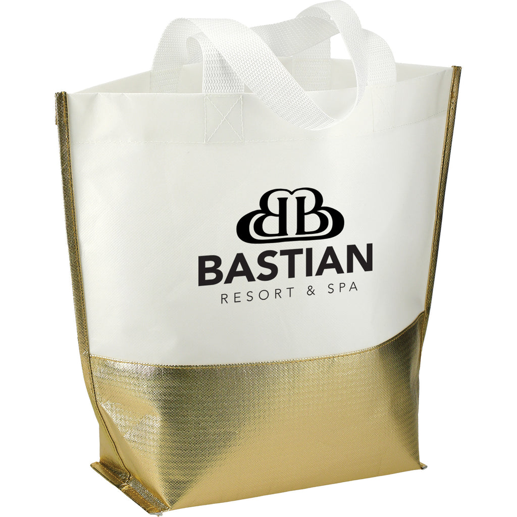 Non-Woven Mini Metallic Bottom Laminated Tote 2301-55