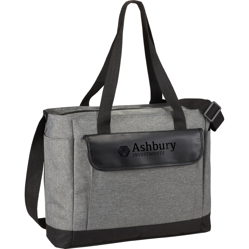 Professional Heathered Tote With Vinyl Accent 3450-65