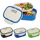 Plastic And Wheat Straw Lunch Box Container 1033-61