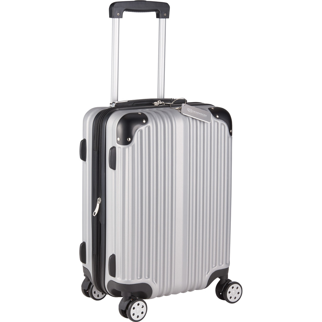 Metallic Upright Expandable Luggage With Tag 5893-65
