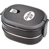 Two Tier Insulated Oval Lunch Box Food Container 1031-68