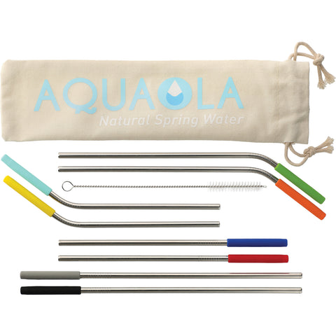 Reusable Stainless Straw 10 In 1 Set 1628-39