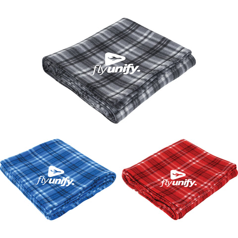 Plaid Fleece Blanket SM-8710