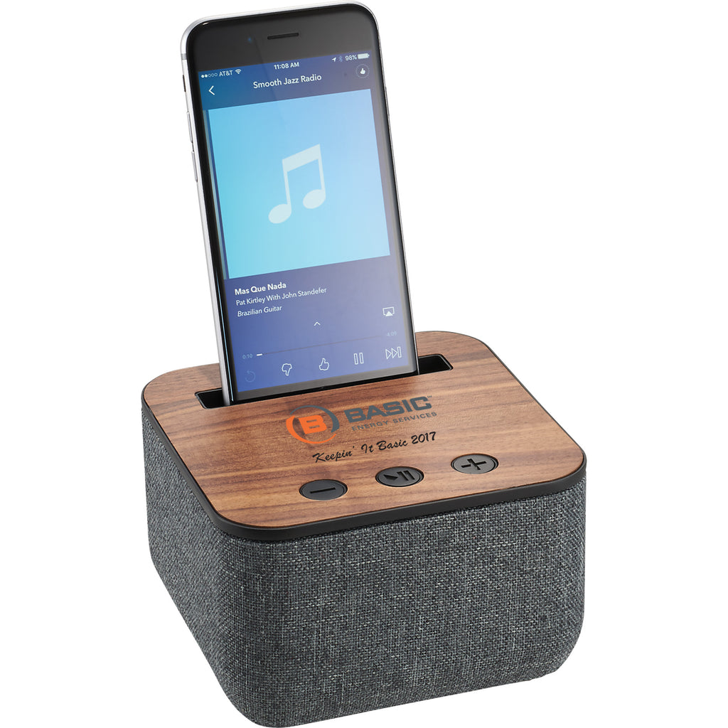 Shae Fabric And Wood Bluetooth Speaker 7198-12