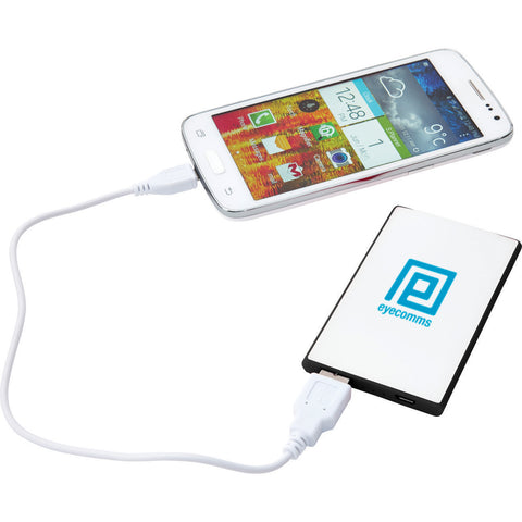 Slim Credit Card 2,000 Mah Power Bank SM-3937