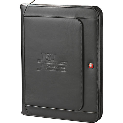 Wenger Exec Leather Zippered Padfolio Bundle Set 1355-10