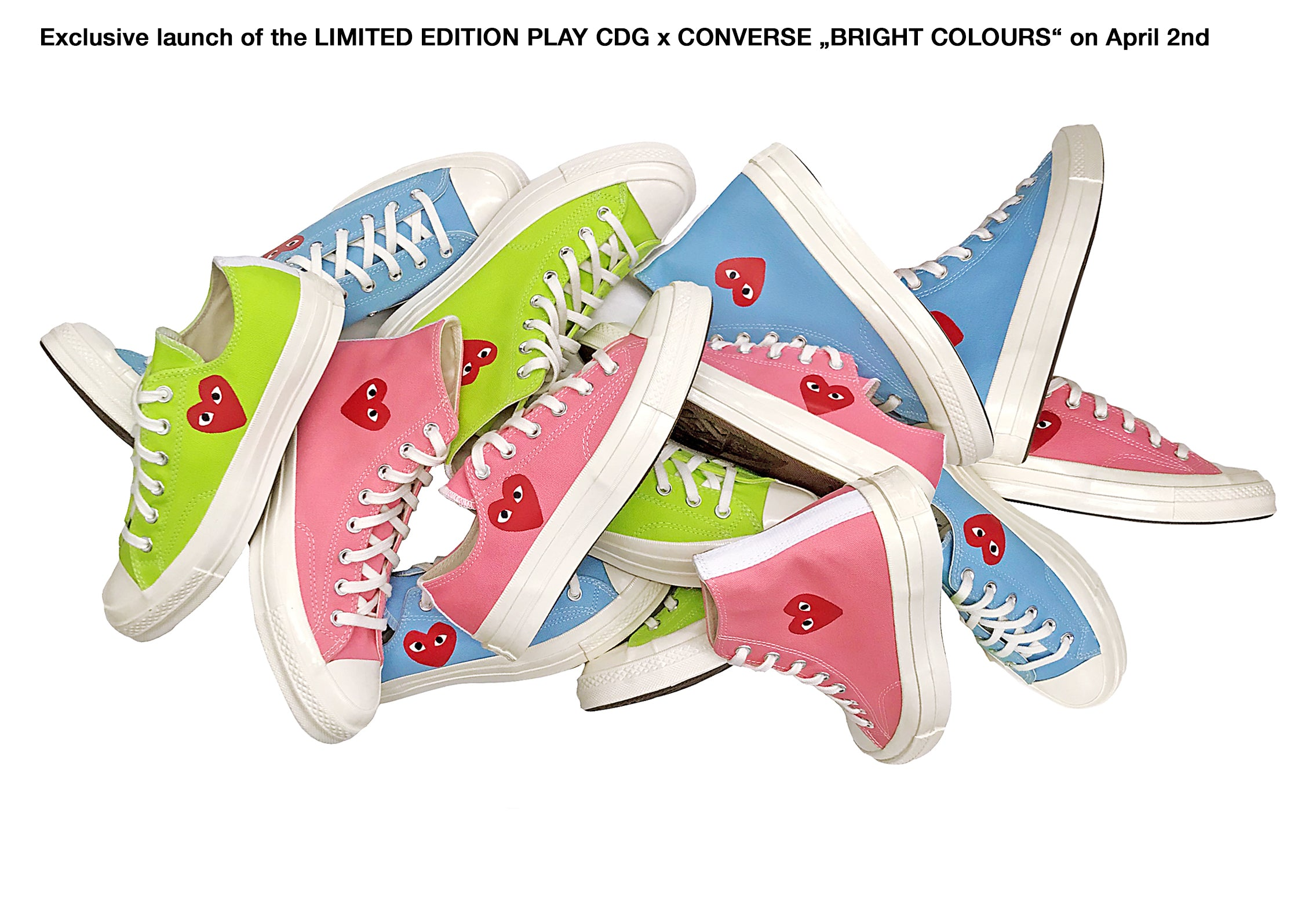 comme des garcons germany online shop banner CDG Deutschland Play x Converse Bright