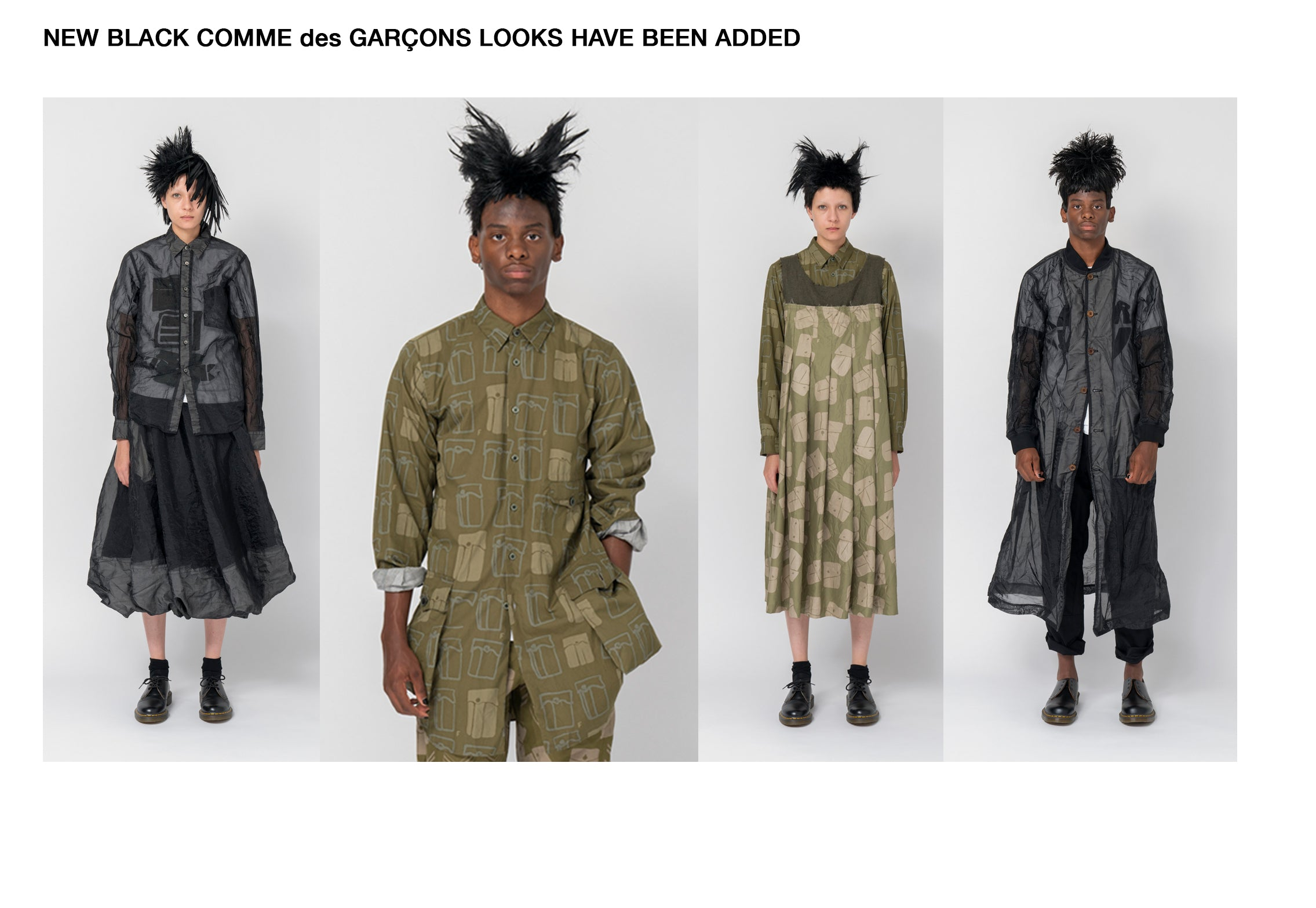 NEW BLACK COMME des GARÇONS LOOKS HAVE BEEN ADDED