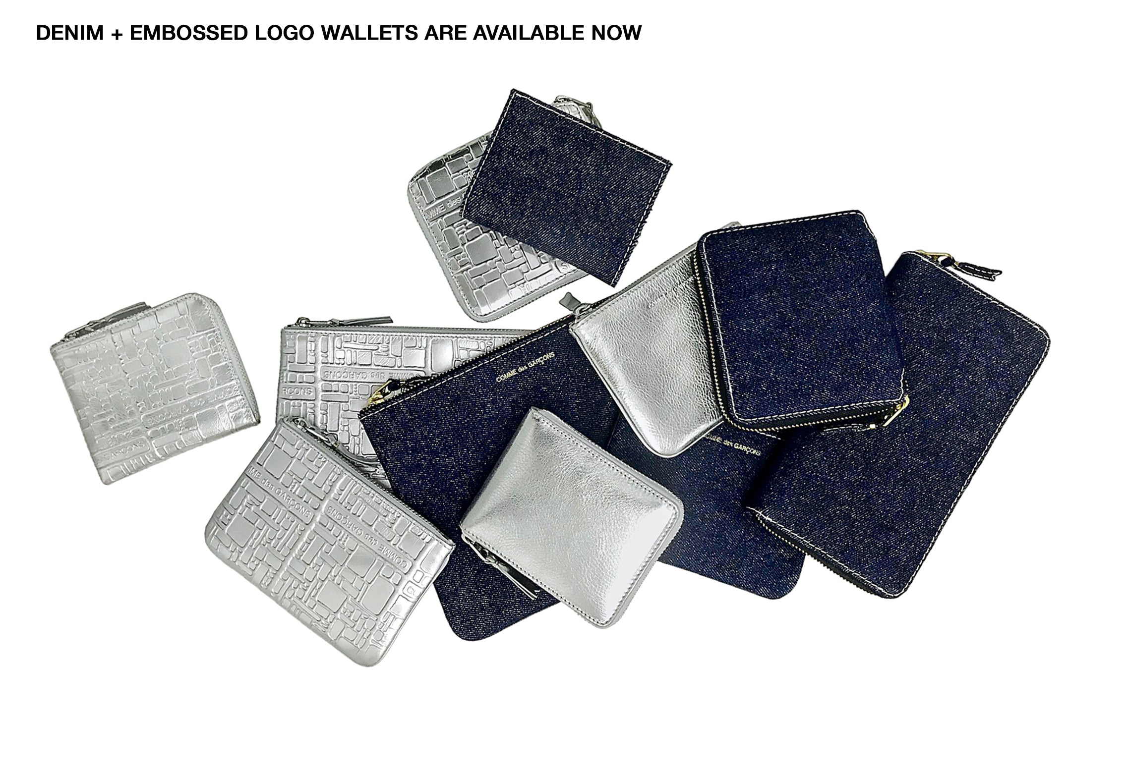comme des garcons germany online shop banner CDG Deutschland DENIM und EMBOSSED LOGO WALLETS