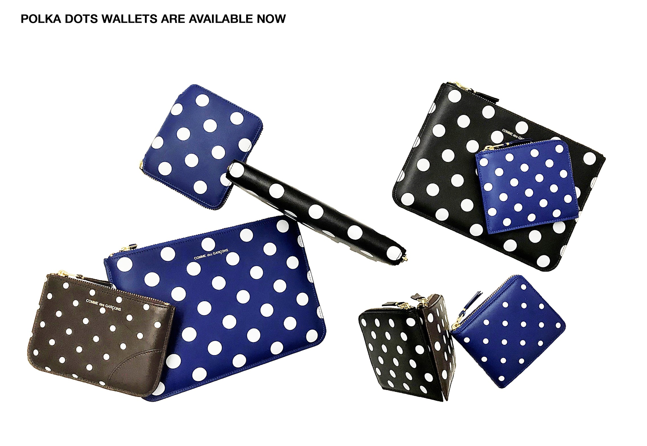comme des garcons germany online shop banner CDG Deutschland POLKA DOTS WALLETS