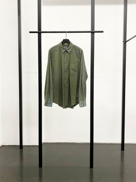 BLACK CDG Chemical Washed Shirt / Khaki