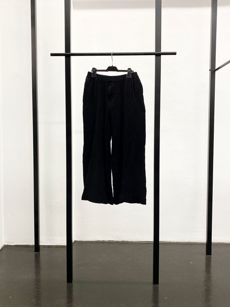 BLACK CDG Milled Wool Pants / Black