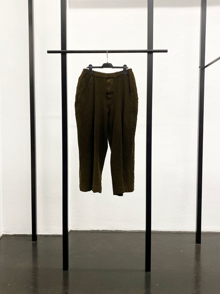 BLACK CDG Milled Wool Pants / Khaki