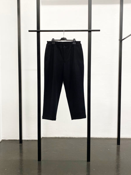 BLACK CDG Wool Flannel Pants / Black