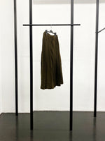 BLACK CDG Milled Wool Pleated Skirt / Khaki