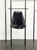 BLACK CDG Twisted Drawstring Skirt / Black
