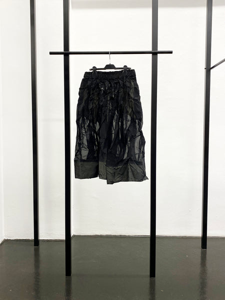 BLACK CDG Tucked Drawstring Skirt / Black