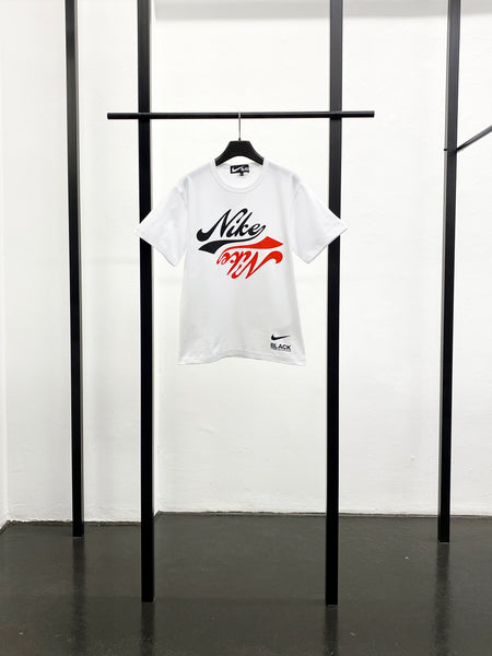 BLACK CDG x NIKE Print T-Shirt / Black