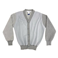 CDG SHIRT / FG-N009-SS21-1 / MENS CARDIGAN KNIT - GREY