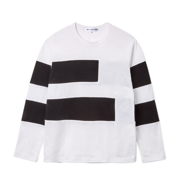 CDG SHIRT / FG-T009-SS21-1 / MEN'S T-SHIRT - WHITE / BLACK