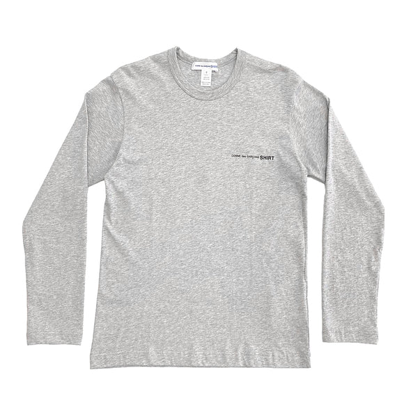 CDG SHIRT / FG-T017-SS21-2 / MEN'S LONG-SLEEVED - GREY