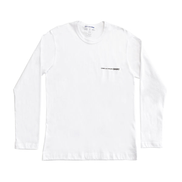 CDG SHIRT / FG-T017-SS21-3 / MEN'S LONG-SLEEVED - WHITE
