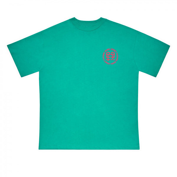 HONEY FUCKING DIJON Chest Logo T-Shirt / Green