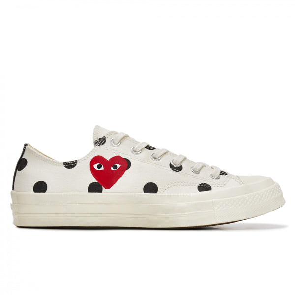 Play Comme des Garçons Converse  ChuckTaylor'70  Polka Dot / Low Top / Off White