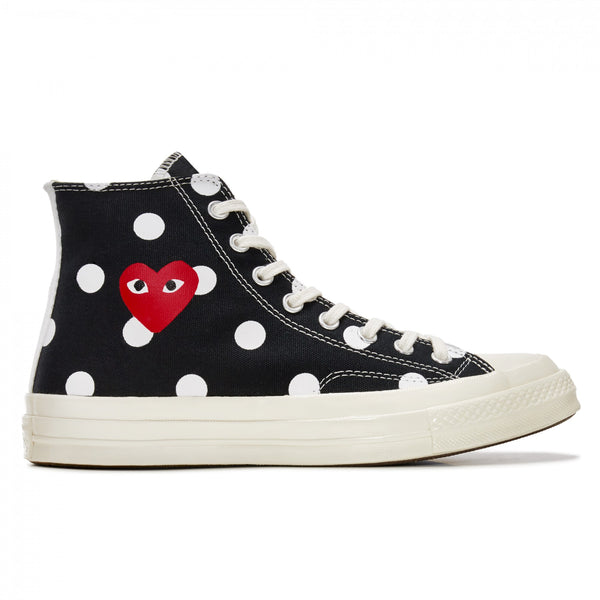 Play Comme des Garçons Converse  ChuckTaylor'70  Polka Dot / High Top / Black