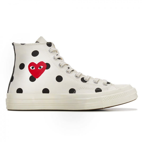 Play Comme des Garçons Converse  ChuckTaylor'70  Polka Dot / High Top / Off White