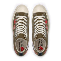 Play Comme des Garçons Converse  ChuckTaylor'70  Multi Heart / High Top / Khaki