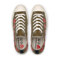 Play Comme des Garçons Converse  ChuckTaylor'70  Multi Heart / Low Top / Khaki