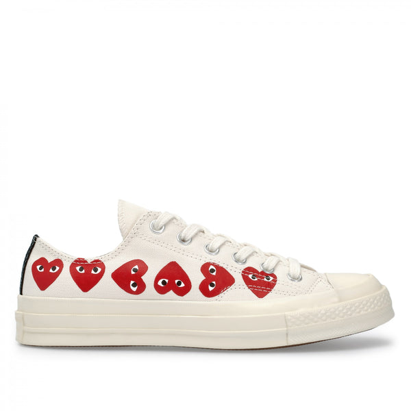Play Comme des Garçons Converse  ChuckTaylor'70  Multi Heart / Low Top / Off White
