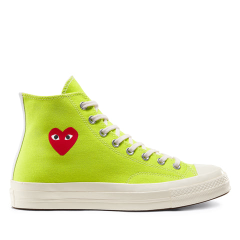 Play Comme des Garçons Converse ChuckTaylor'70 Bright / High Top / Green