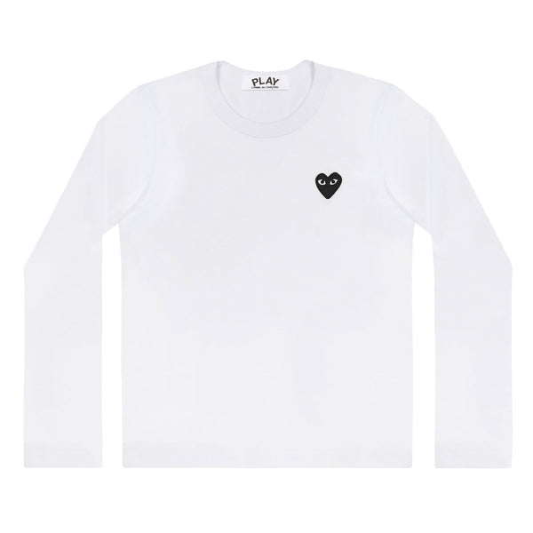 Langarma we shirt Longsleeve manche longue rotes Herz red heart logo emblem patch Comme des Garcons Commes des Garcon Comme de Garcons Comme de Garcon Comm des Garcons