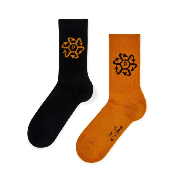 RASSVET Two Tone Socks - Black